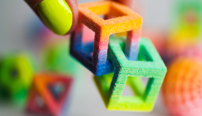 3D Systems' 3D printers can create custom designs in flavoured, coloured sugar and chocolate.
