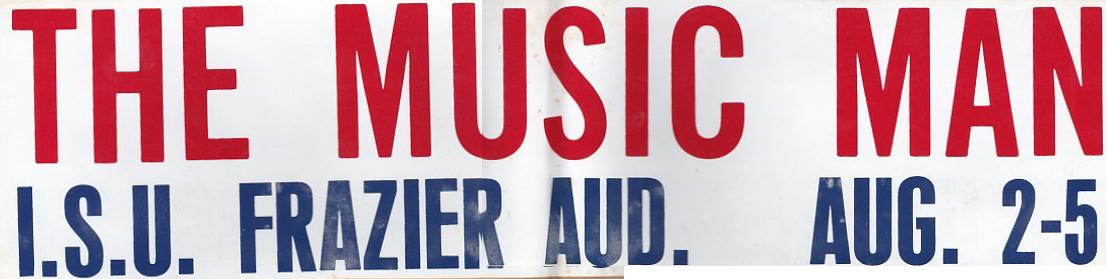 Bumper sticker for  The Music Man