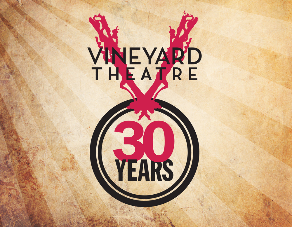 Vineyard Theatre 30th Anniversary logo