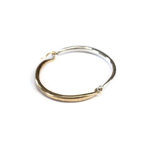 K/ller Collection, Hinged Bracelet .   The shape of this bracelet is ethereal.