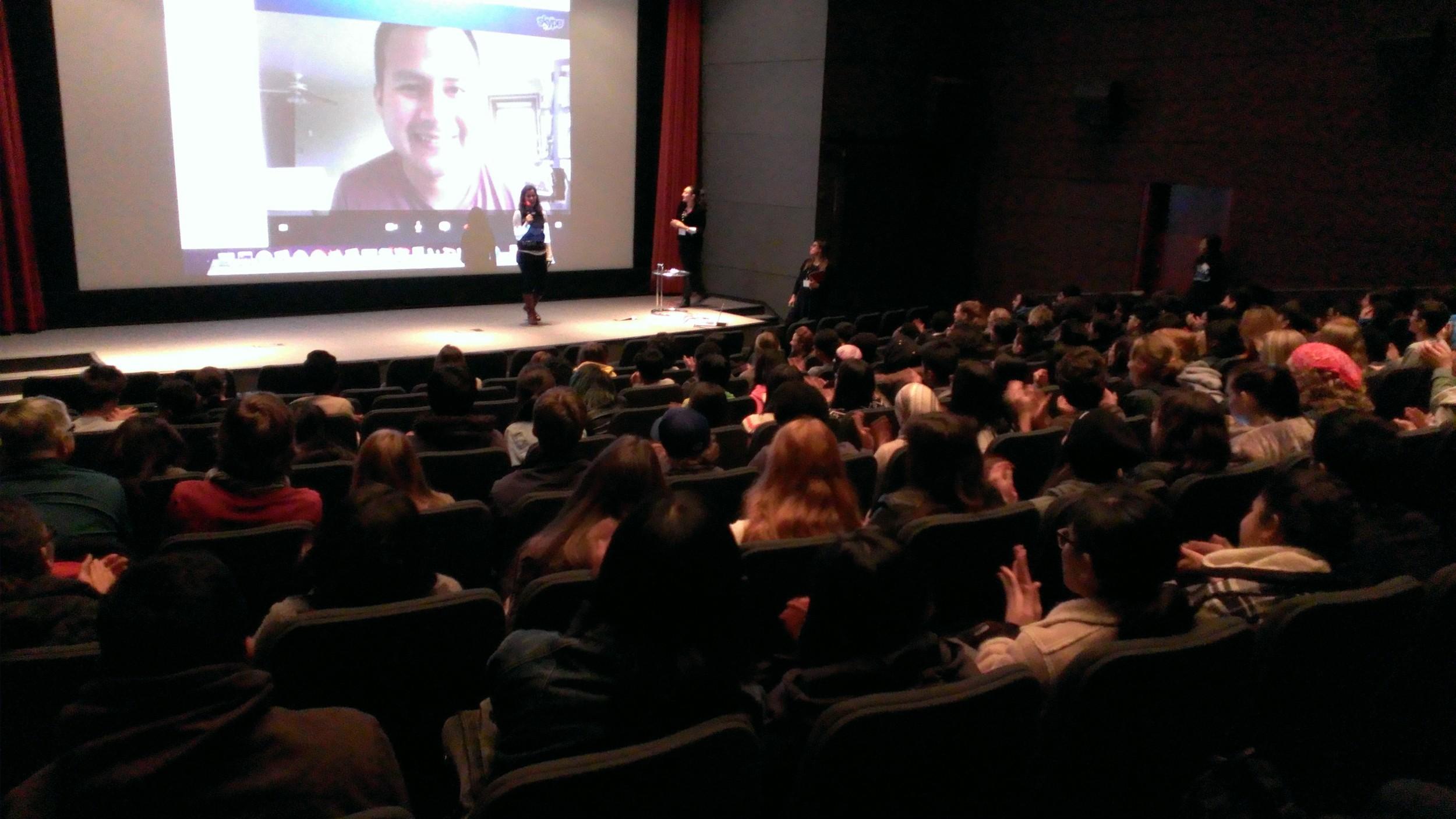 Toronto screening 3 smile and clap.jpg