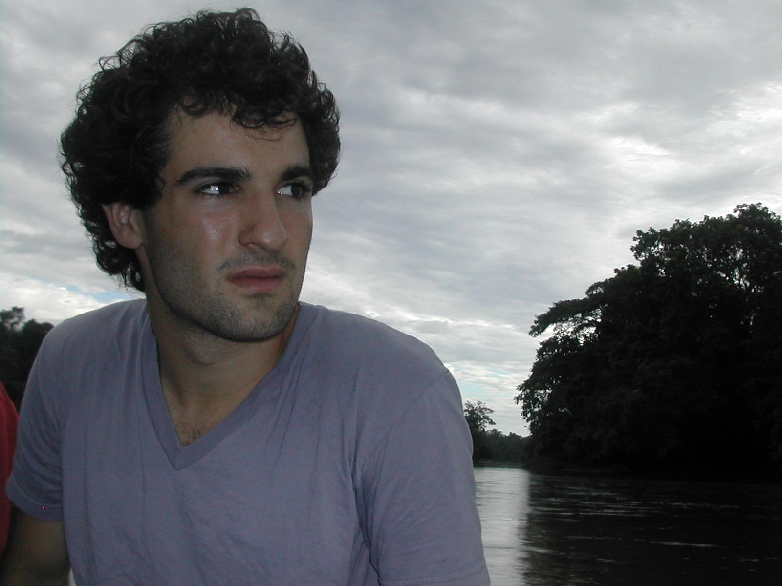 David on the Aguarico River, Ecuador.JPG