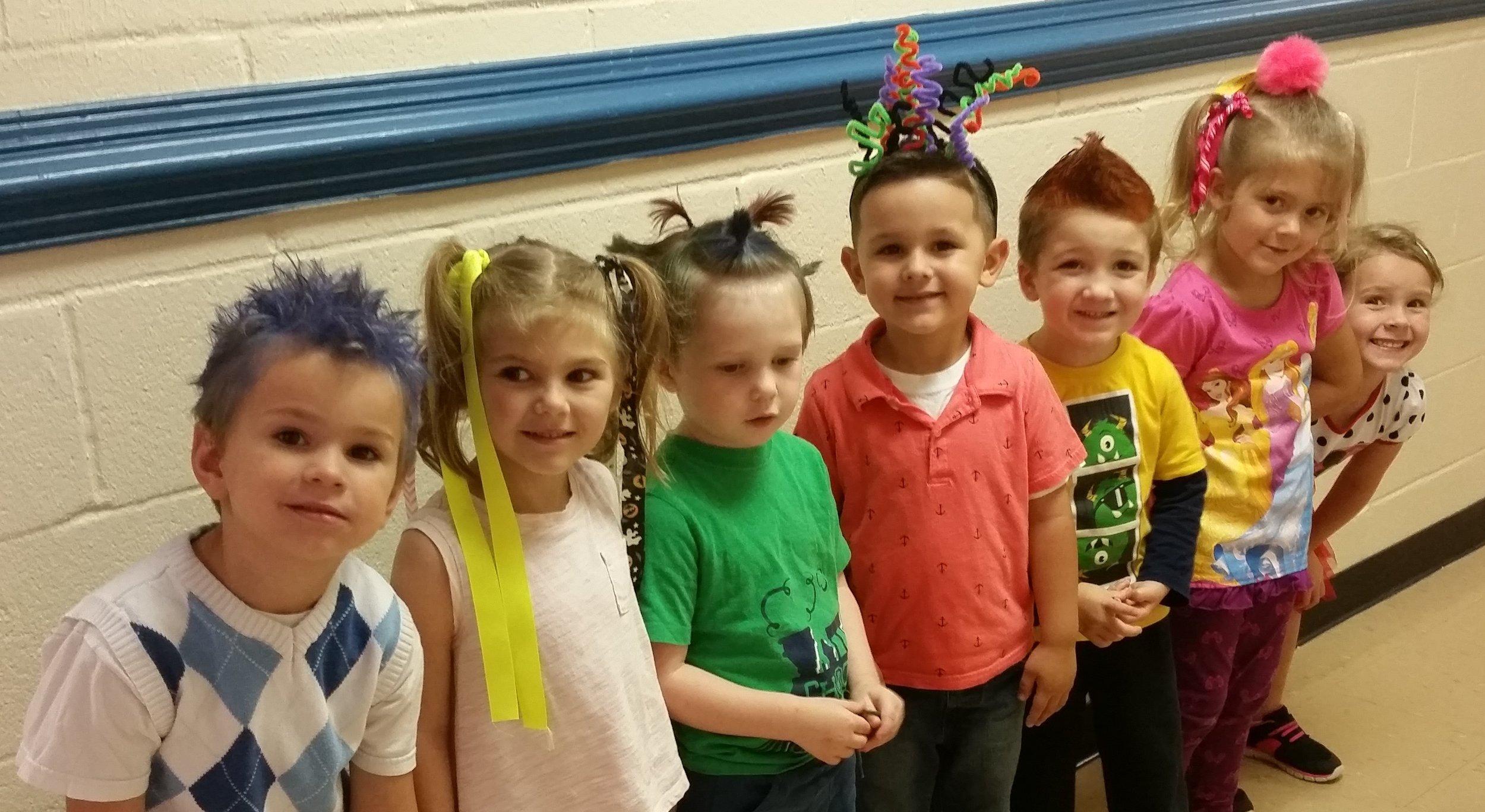 Preschool on Crazy Hair Day