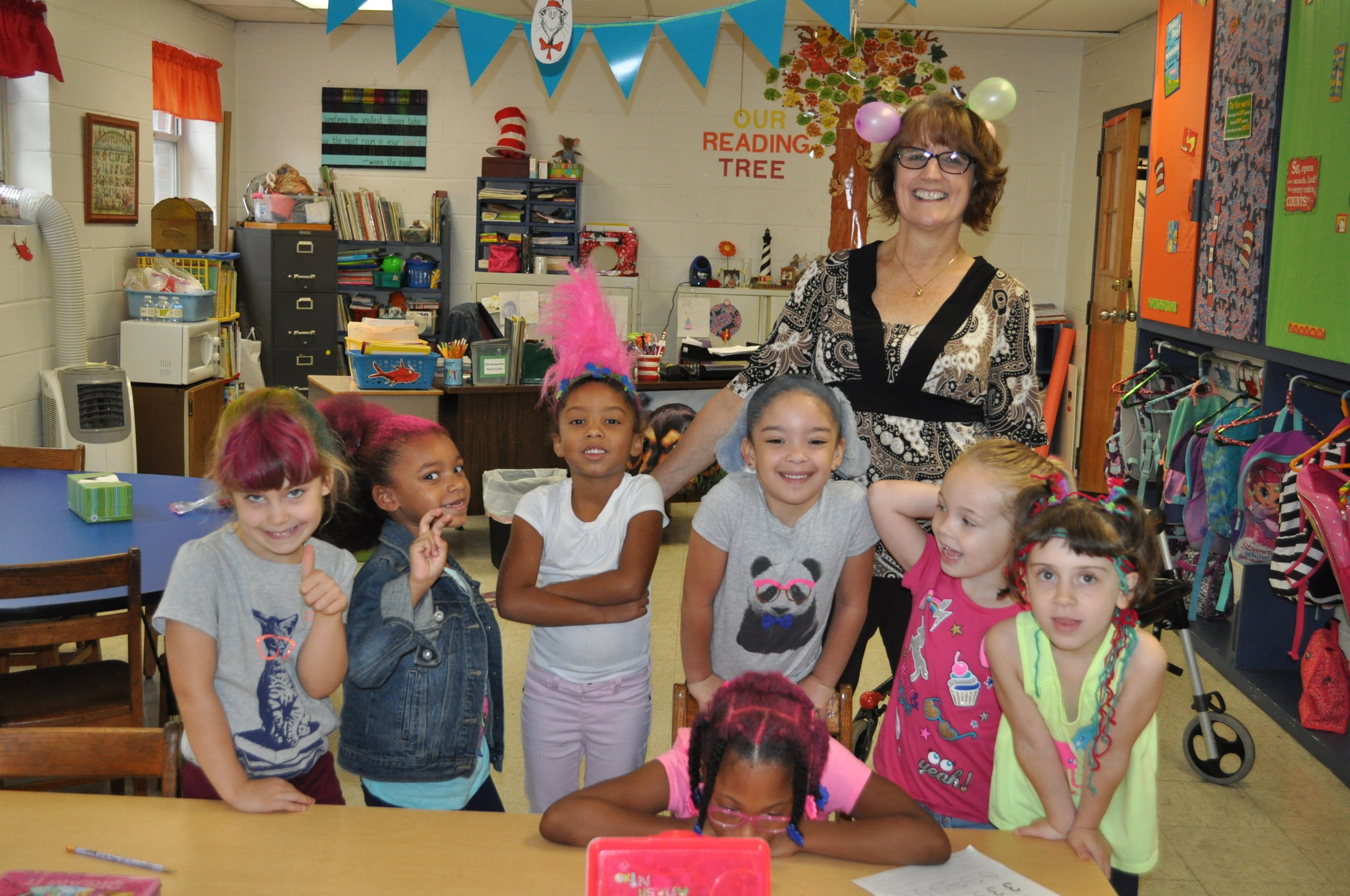 Kindergarten on Crazy Hair Day