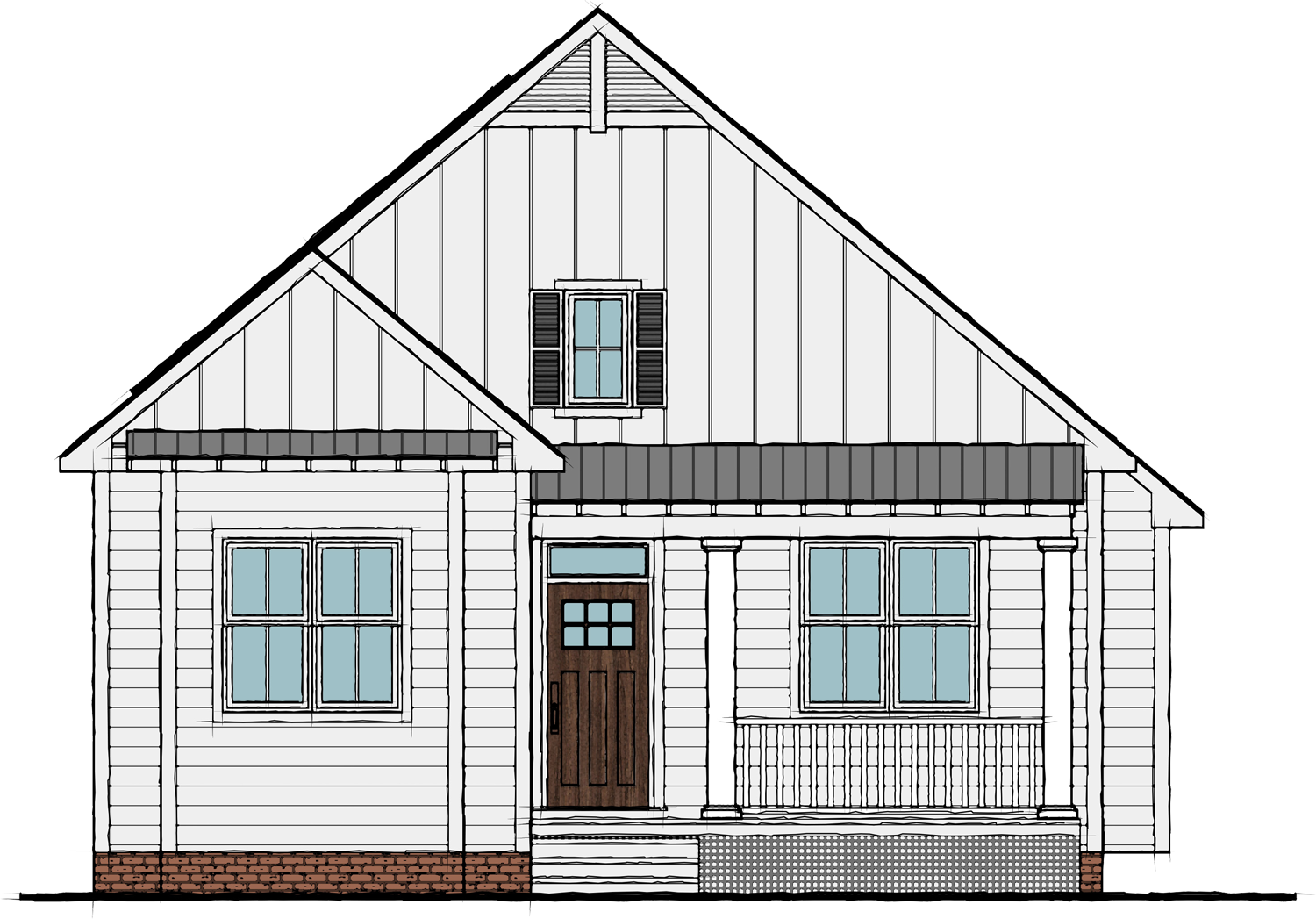 Blueberry - 1350 Sq Ft | 2 Bedroom | 2 BathFeatures include:• Cozy ranch plan with flexible living space, an inviting fireplace, and main-floor bedroom space• Private master retreat located at the rear of the home• Modern kitchen with sunny bay window breakfast nook• Front porch and rear deck