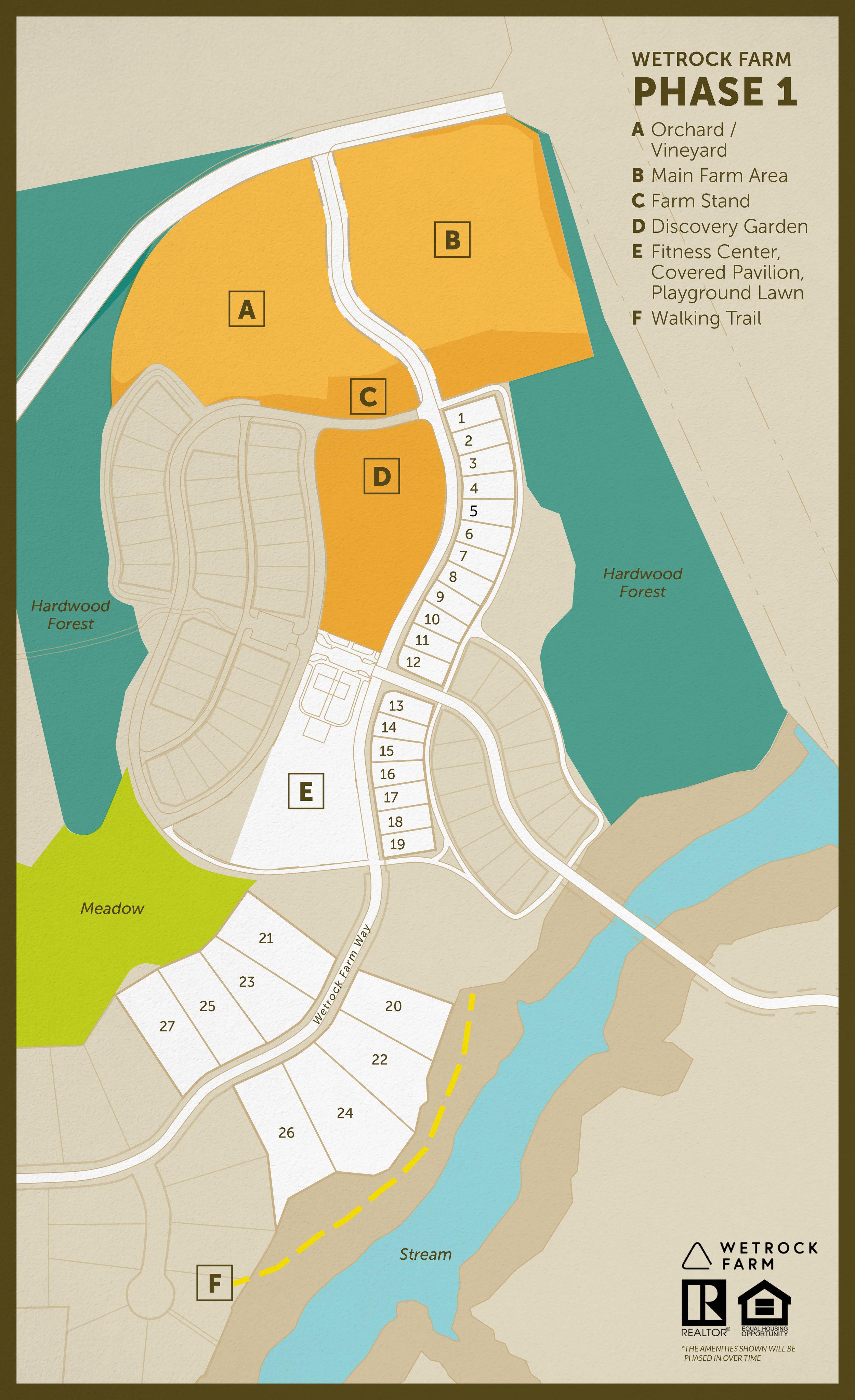 Wetrock Farm Homes Lot Map 2019