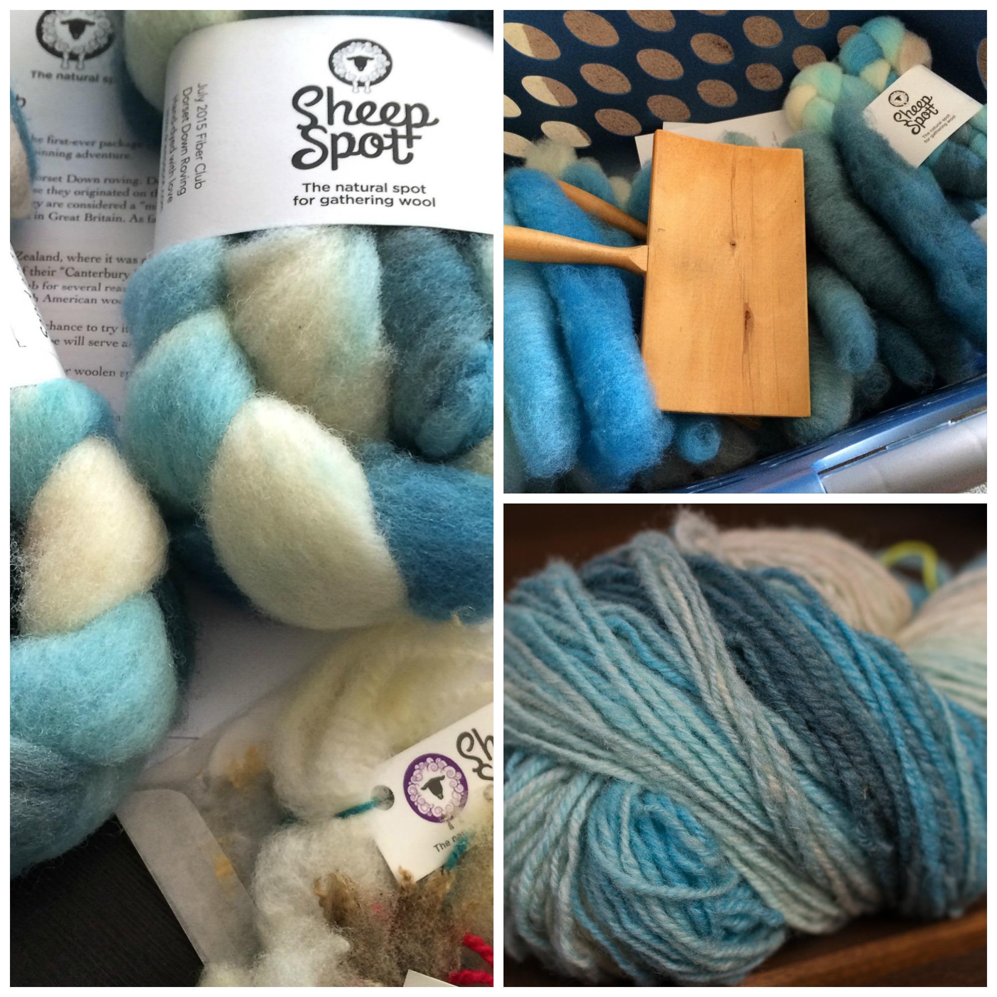 First Installment: Dorset Down Roving, carded and woolen spun