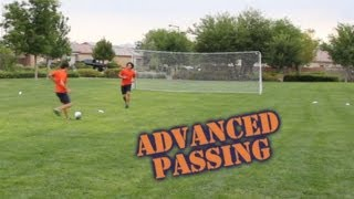 Advanced Soccer Passing How to Draw in a Defender