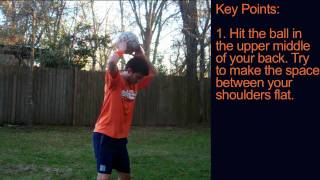 How to Juggle a Soccer Ball with your Back