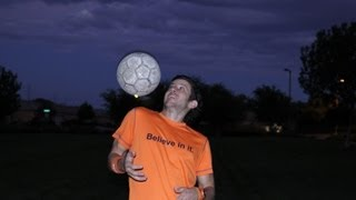 How to Juggle a Soccer Ball with your Shoulder