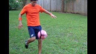 Soccer Volley with Top Spin