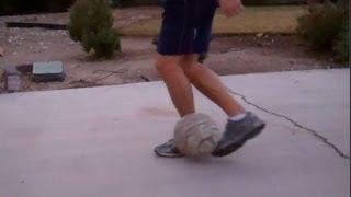 RollBehind Plant Foot Soccer Juggling Trick