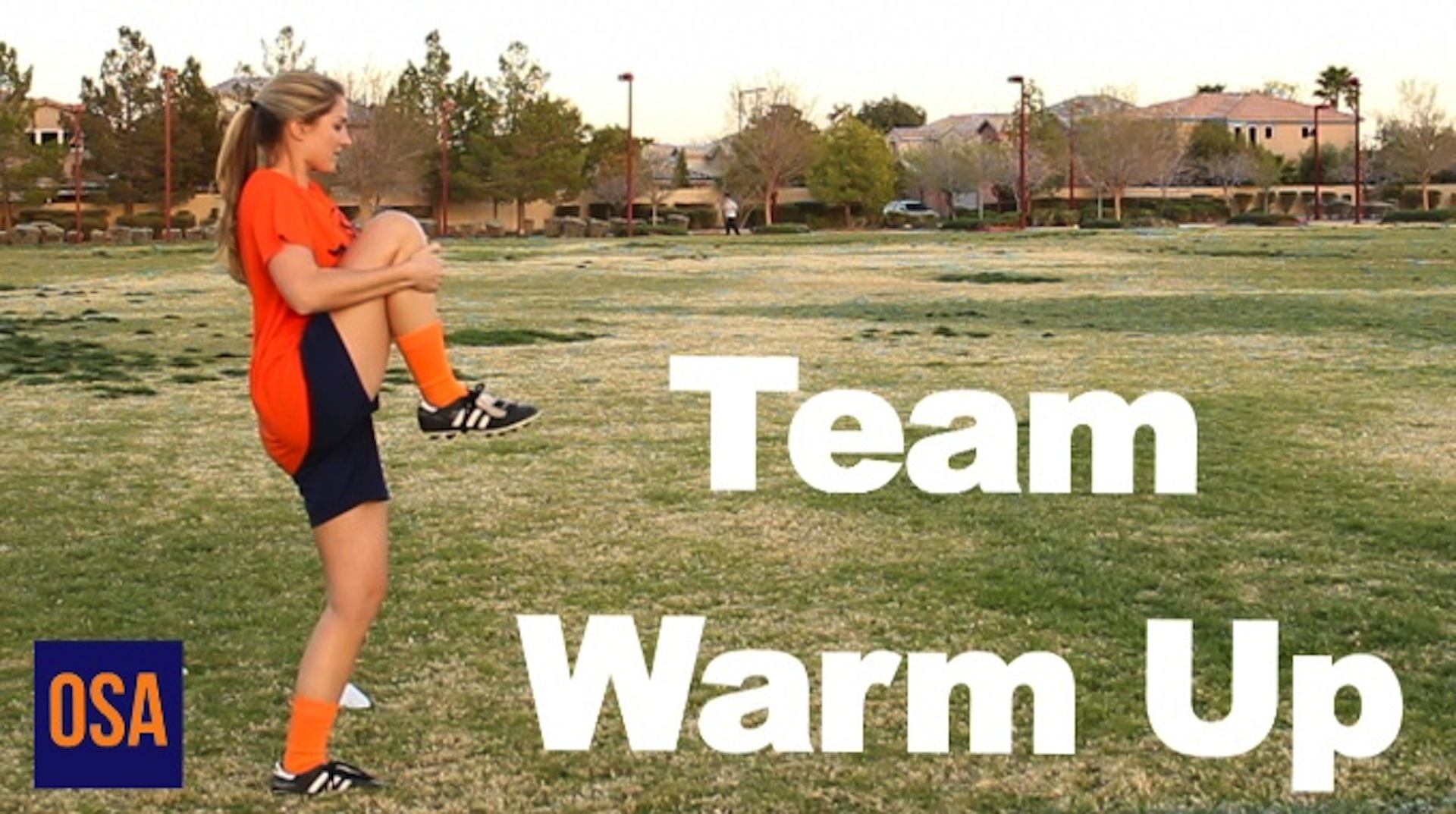How To a D1 College Soccer Team Warm Up