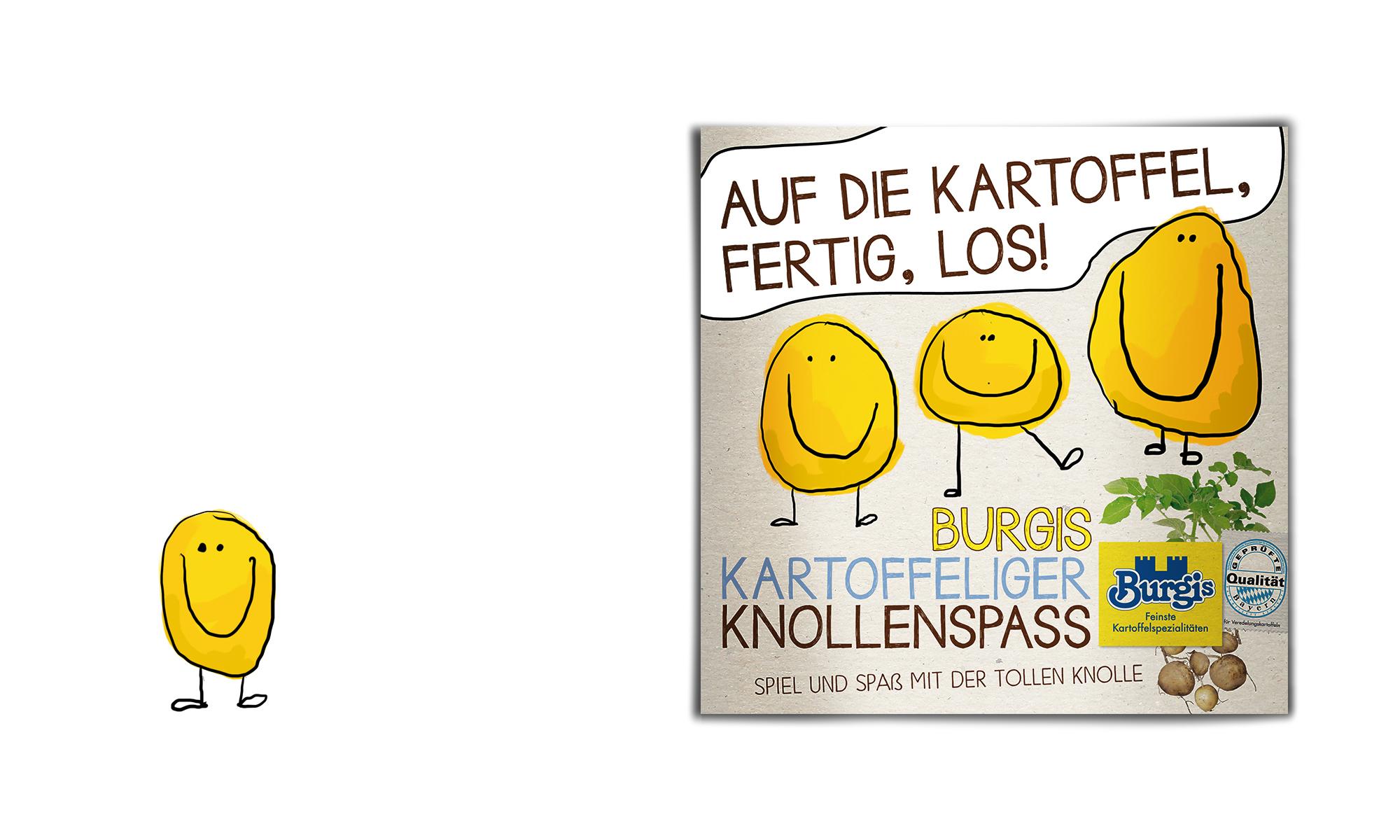 KUNDE:  Burgis GmbH  PROJEKT : Bastelheftchen für Kinder, Gestaltung und Illustrationen