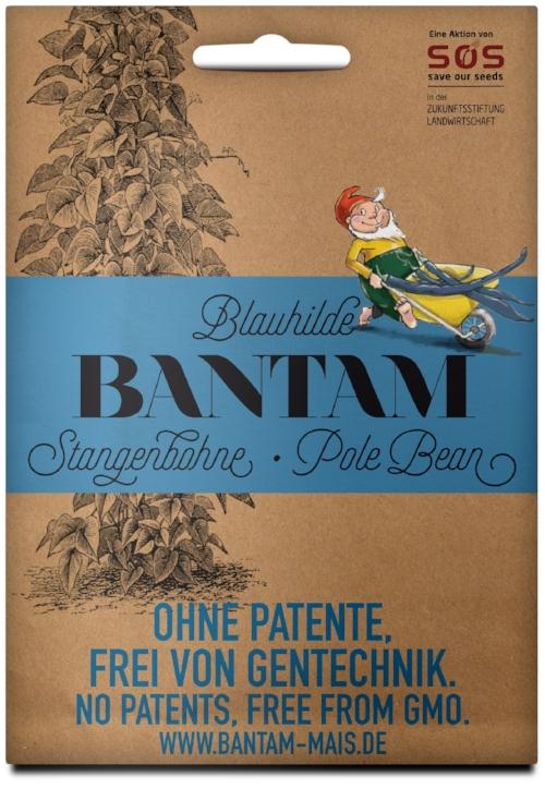 Packaging für Bantam Stangenbohne Blauhilde