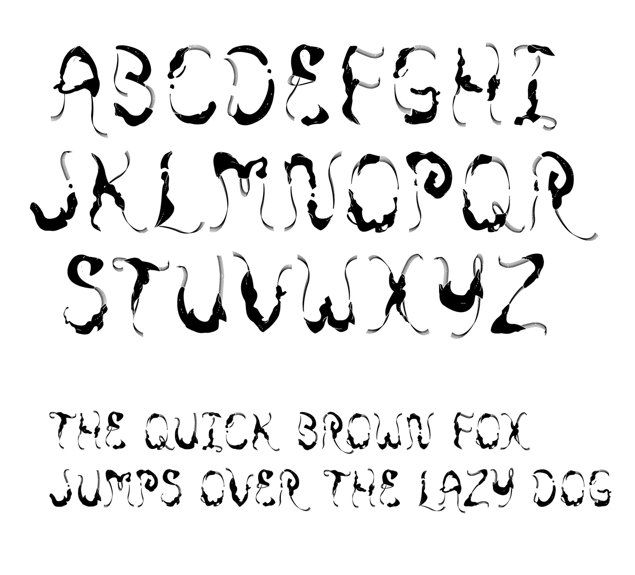 Typeface HereHere developed for project