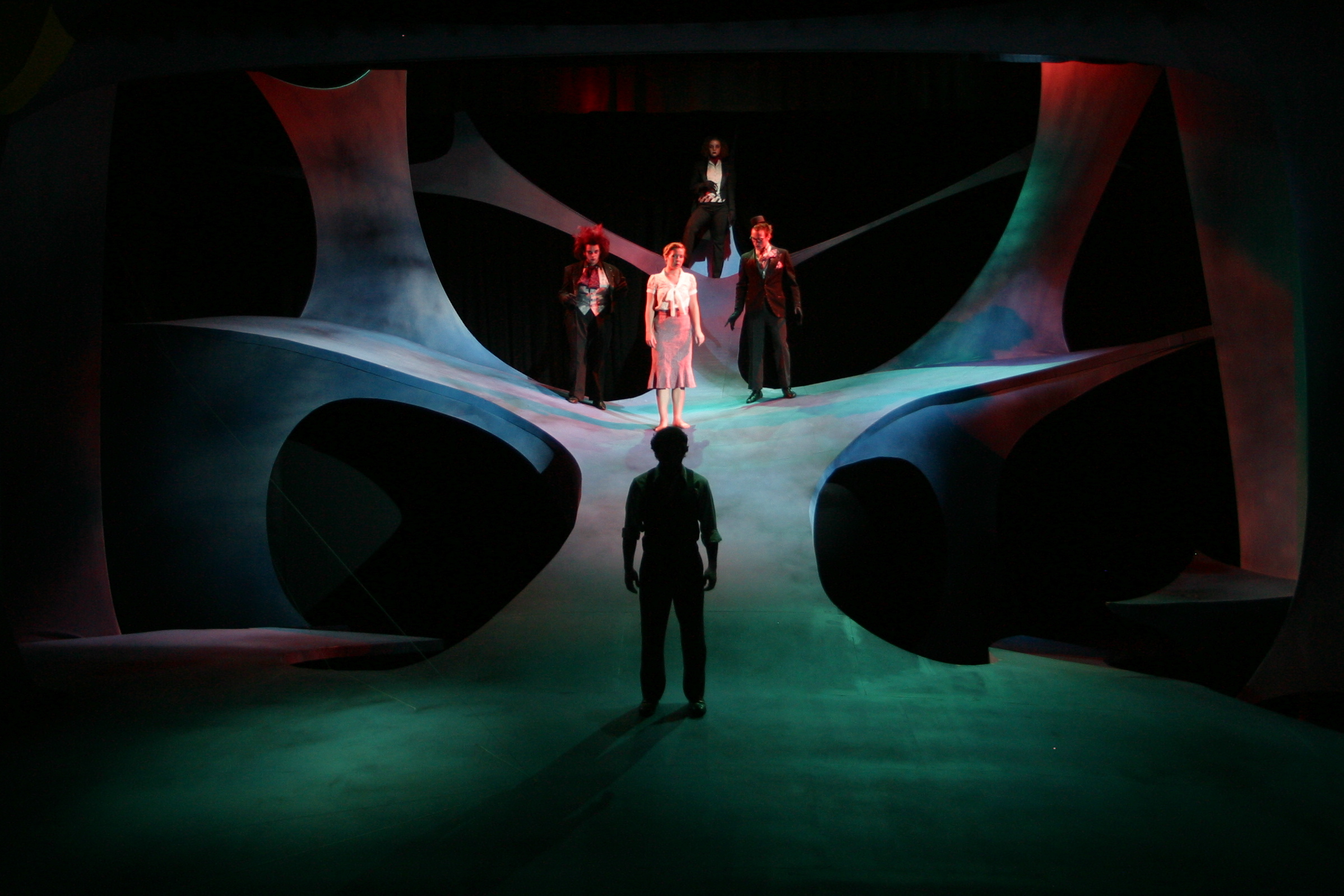 Scenic design by Bryan Boyd; Costume design by Claudie Jean Fisher; Lighting design by Jeremy McCamish. Photo credit: Bryan Boyd.