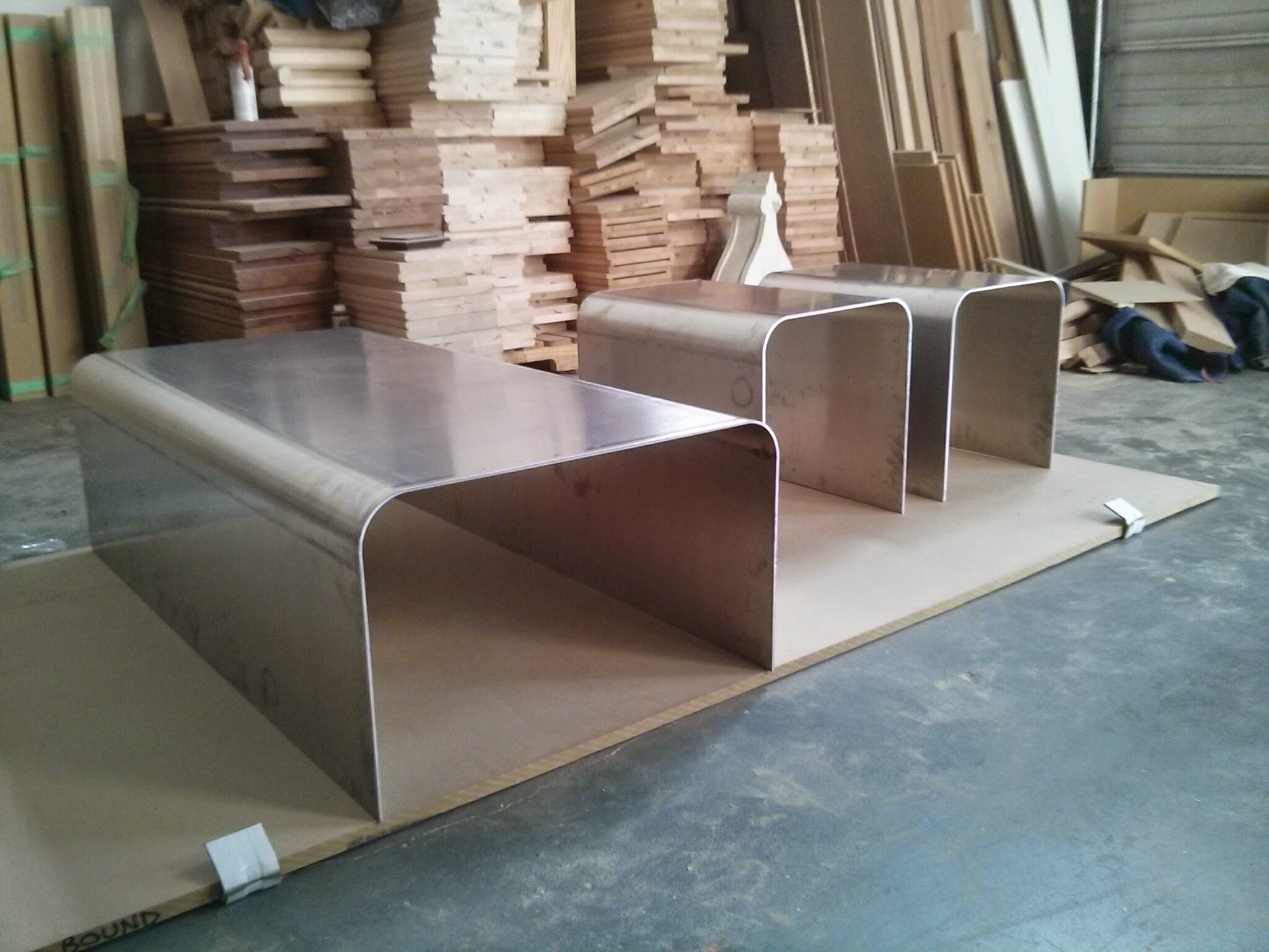 """The bare """"Aluminate"""" set, from slightly thicker material, and with a larger bend radius"""