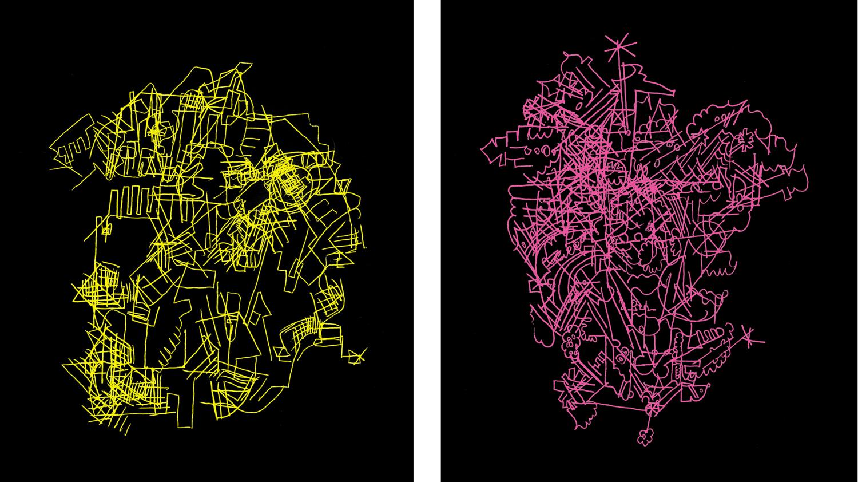 Graph Headz I & II, 2003 computer generated art