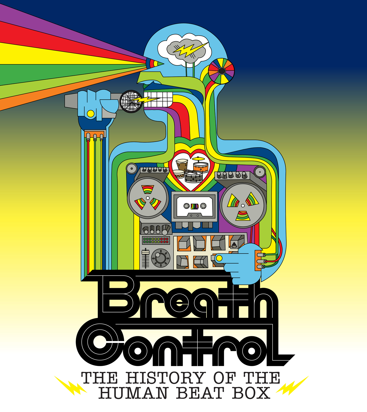 Beat Box Man, 2002 computer generated vector art poster for Breath Control documentary
