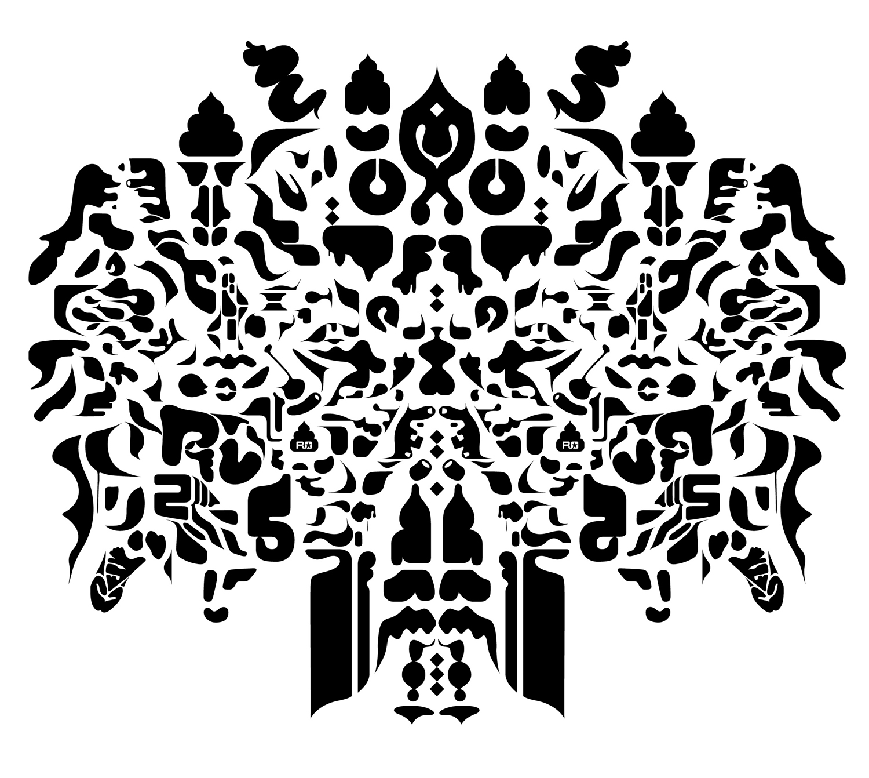American History II (Little Boy), 2002 computer generated vector art