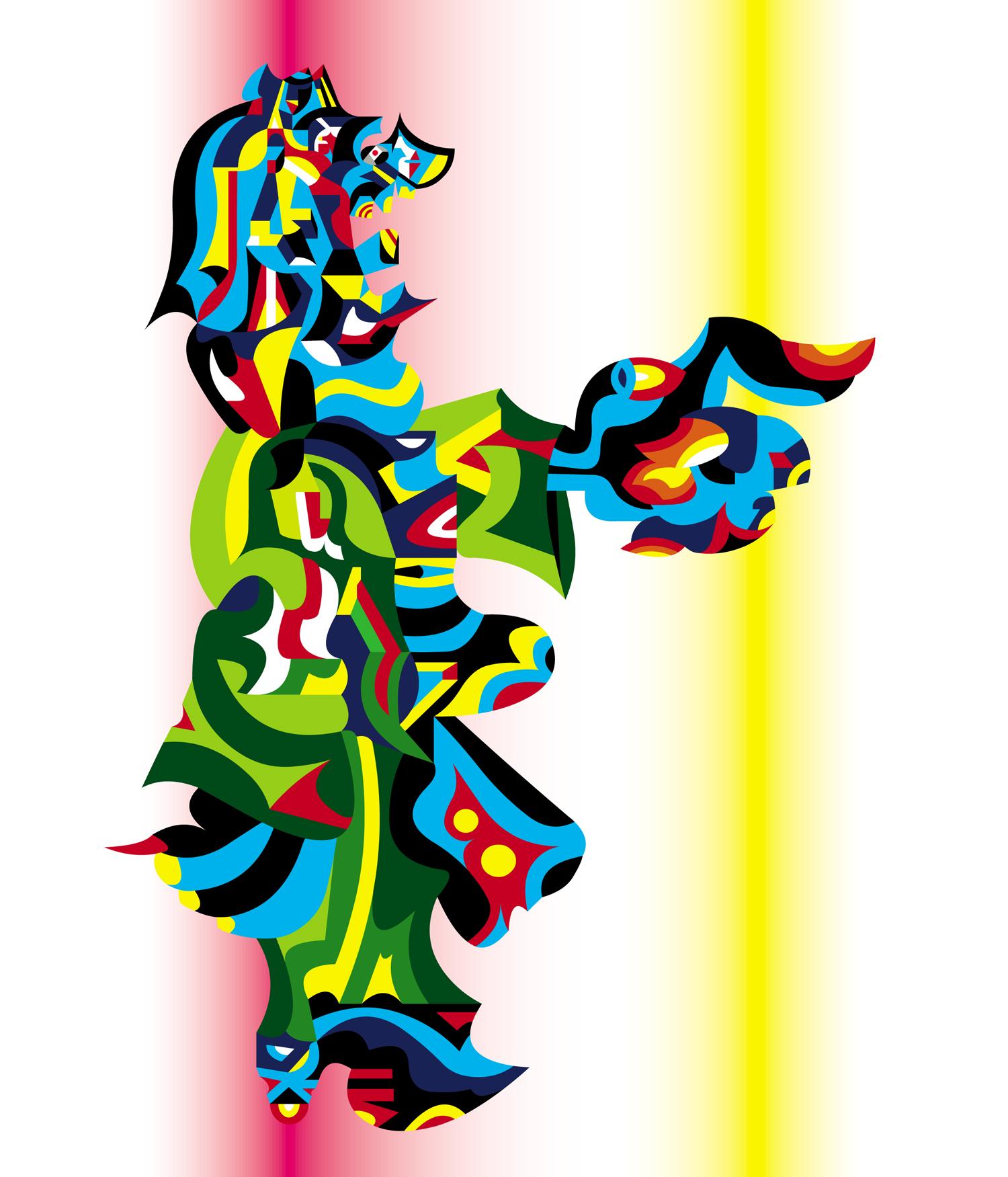 King Kimono, 2001 computer generated vector art