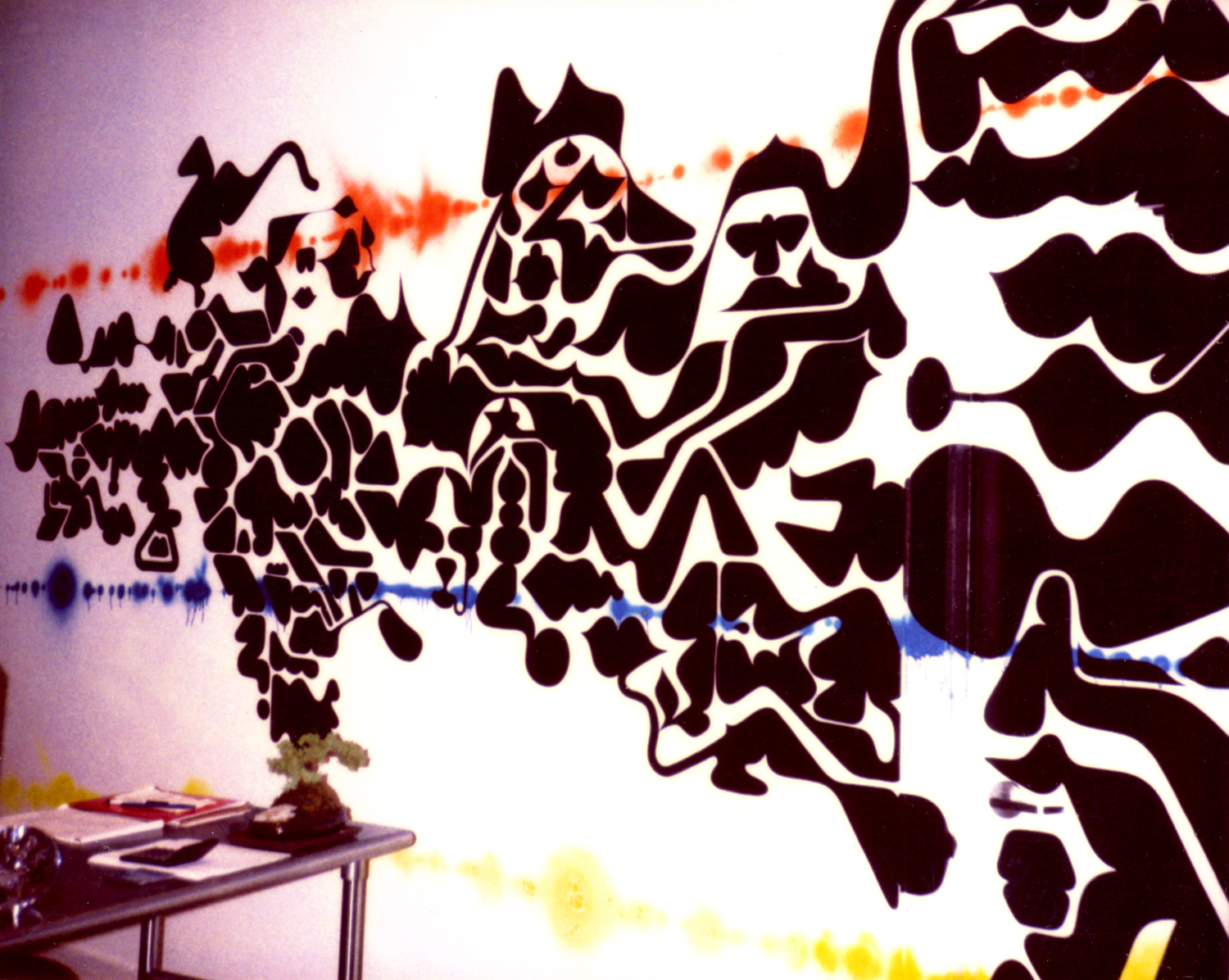 installation view, mural commission for  PMI offices  Soho, NY, 1999