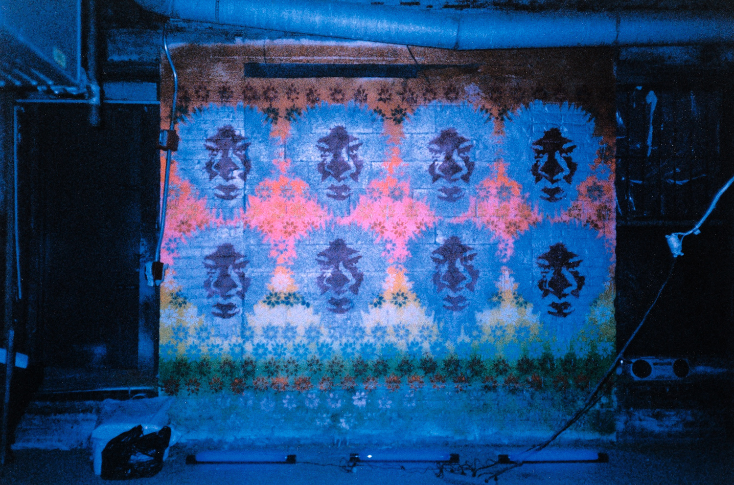 installation view,  Trust No 1  mural commission owery, NY, 1998