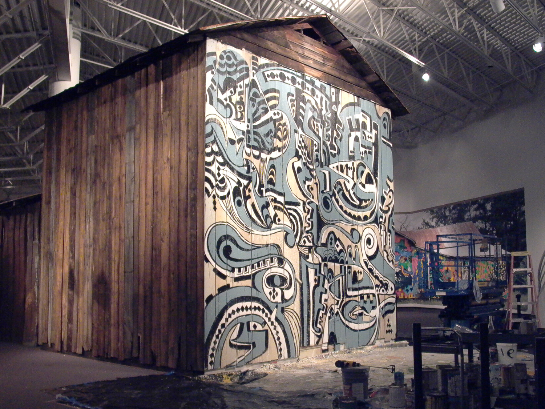Installation view,  Barnstormers Retrospective   SECCA  Raleigh, NC, 2004
