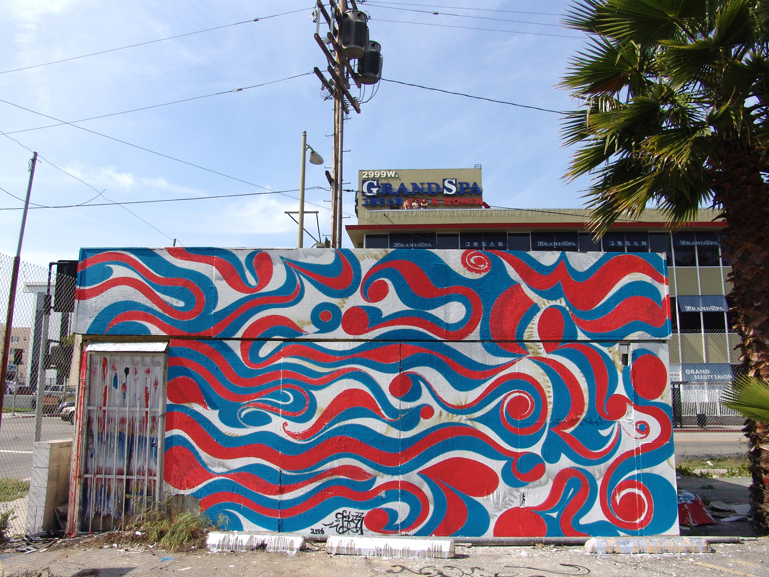 Installation view, mural commission for  Nike Joga Bonito II  Koreatown, Los Angeles, 2006