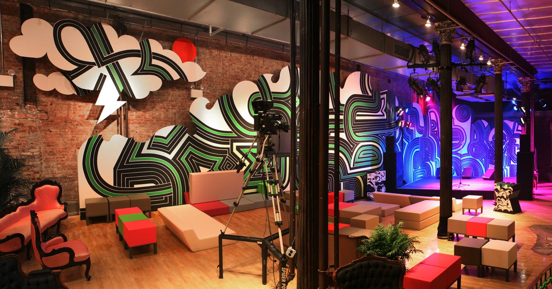 installation view, mural commission for  Formavision  Soho, NY, 2006