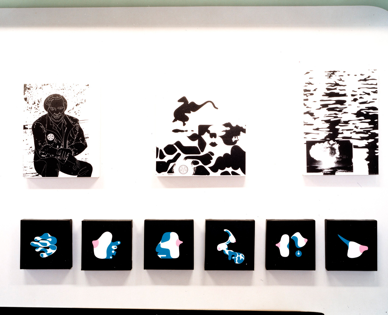 installation view,  Graphysics A.W.T.C.  Houston Gallery Tokyo, Japan, 2002  photo by Kai Regan