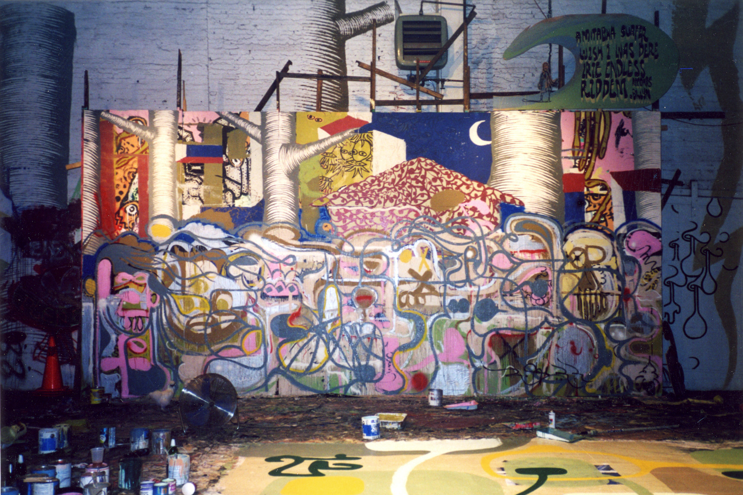 installation view,  Barnstormers: No Condition Is Permanent   Smack Mellon  DUMBO, Brooklyn, 2001
