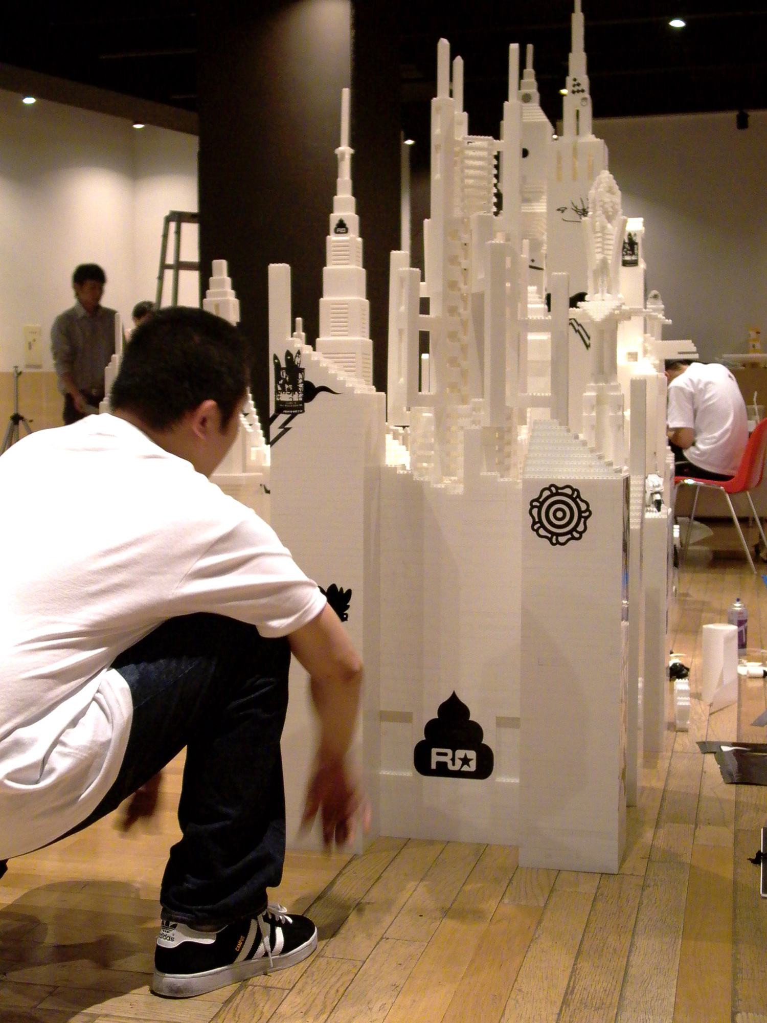 Installation view,  Final Modification II  Ex' Realm Gallery Omotesando, Japan, 2003  with artists José Parlá and Kami