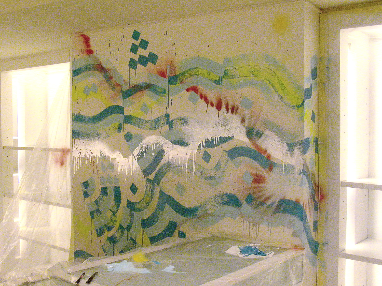 Installation view, commission for Agnés b.  Paris, France, 2002