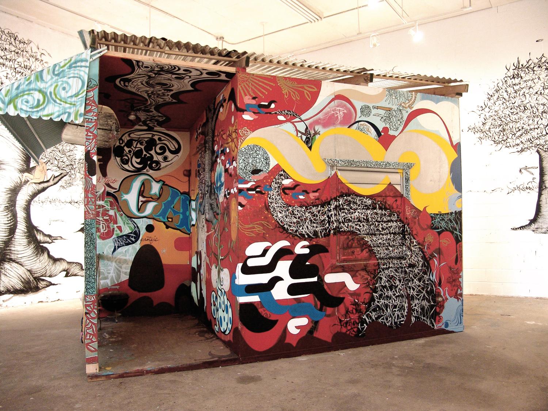 Installation view,  Barnstormers: Casita  Williamsburg, Bklyn, 2005