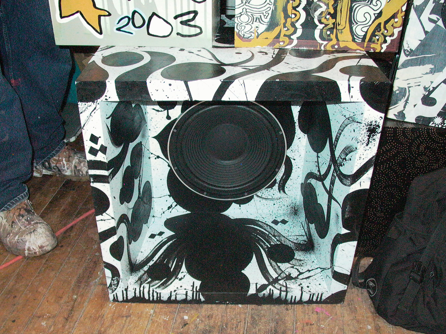 installation view,  Barnstormers:   Hive Mind Soundsystem   Lump Gallery  Raleigh, NC, 2003