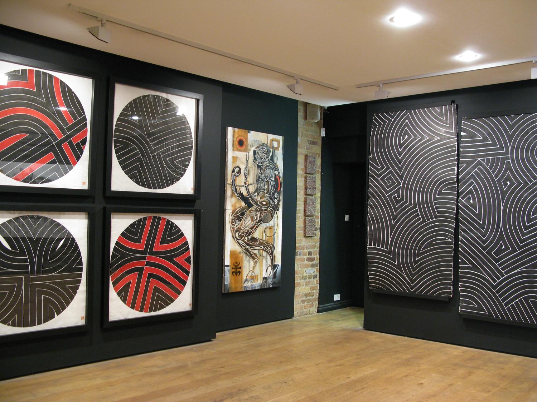 Installation view, War Pen : Rostarr x Doze Green , Leonard St. Gallery, London, 2008