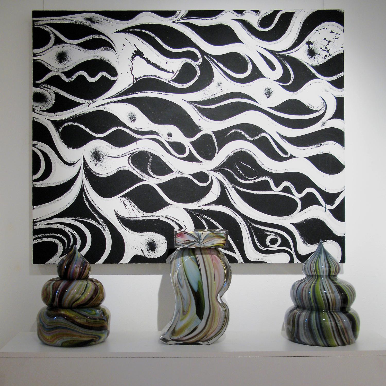 Installation view, Oculus Velocitas , Il Trifoglio Nero Gallery, Genova, 2009