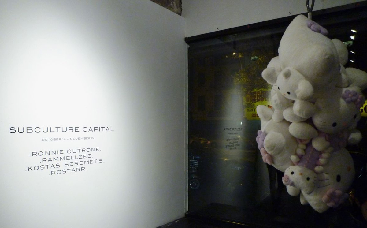 Installation view,  Subculture Capital ,  Anonymous Gallery , New York, 2009