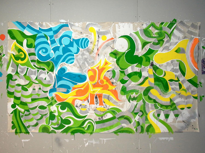 Installation view,  What About New York?   Galerie Du Jour  Paris, France, 2003