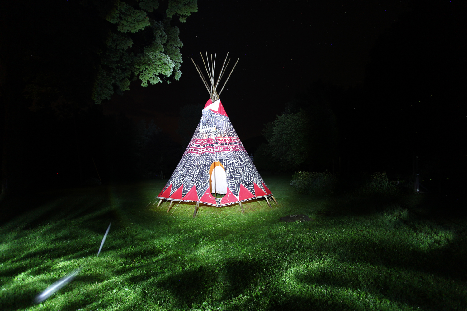 installation view, Teepee commission for  Breathe Inn , Lanesville, New York, 2013