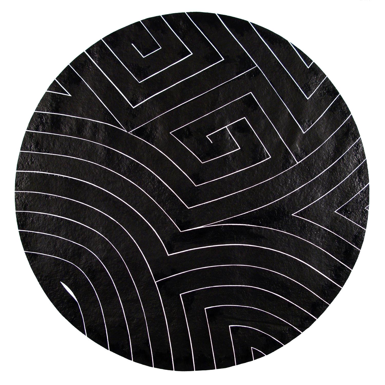 Black Dots III, 2008 sumi ink on handmade paper 40 x 40 inch