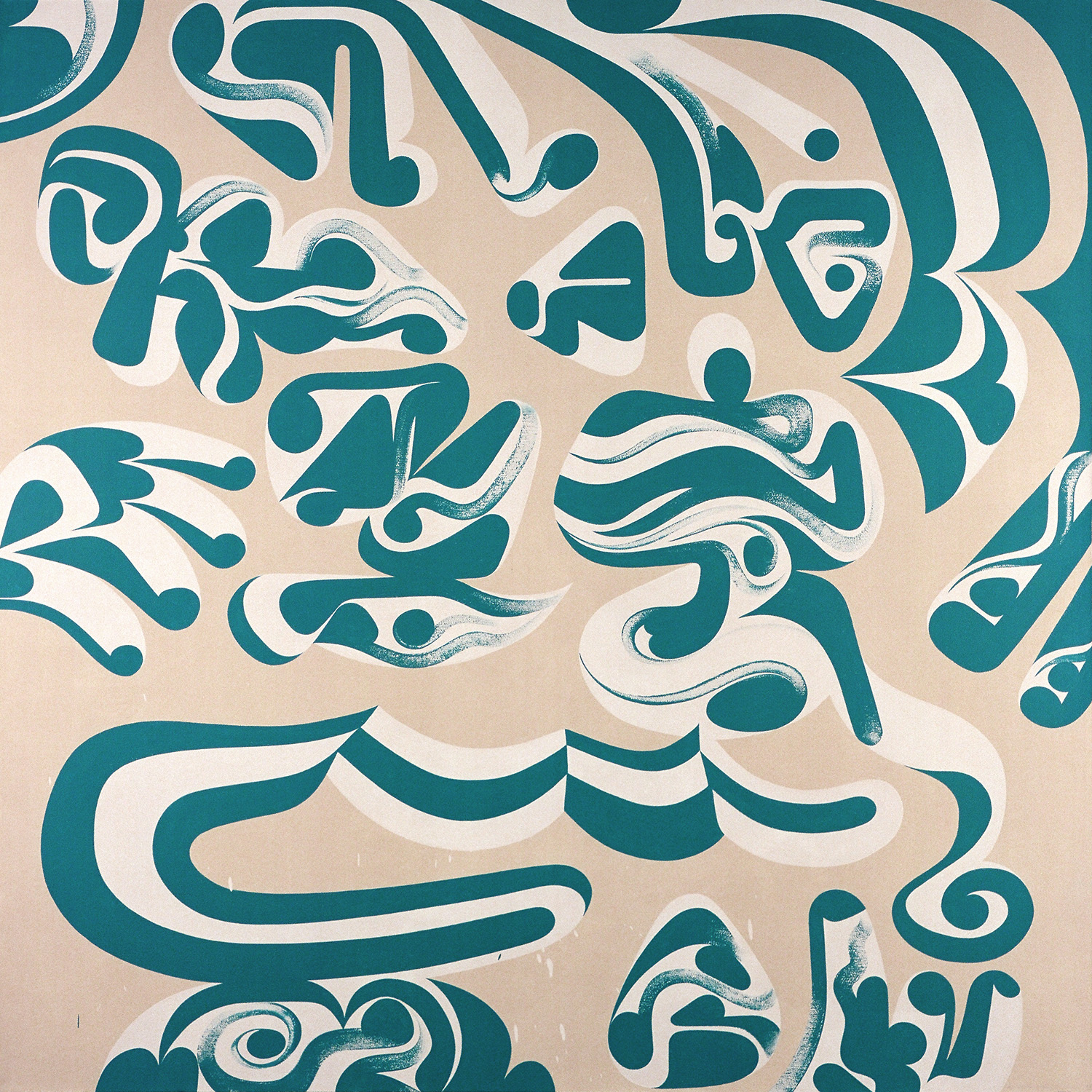 Blues Fingers, 2003 acrylic on canvas 54 x 54 inch