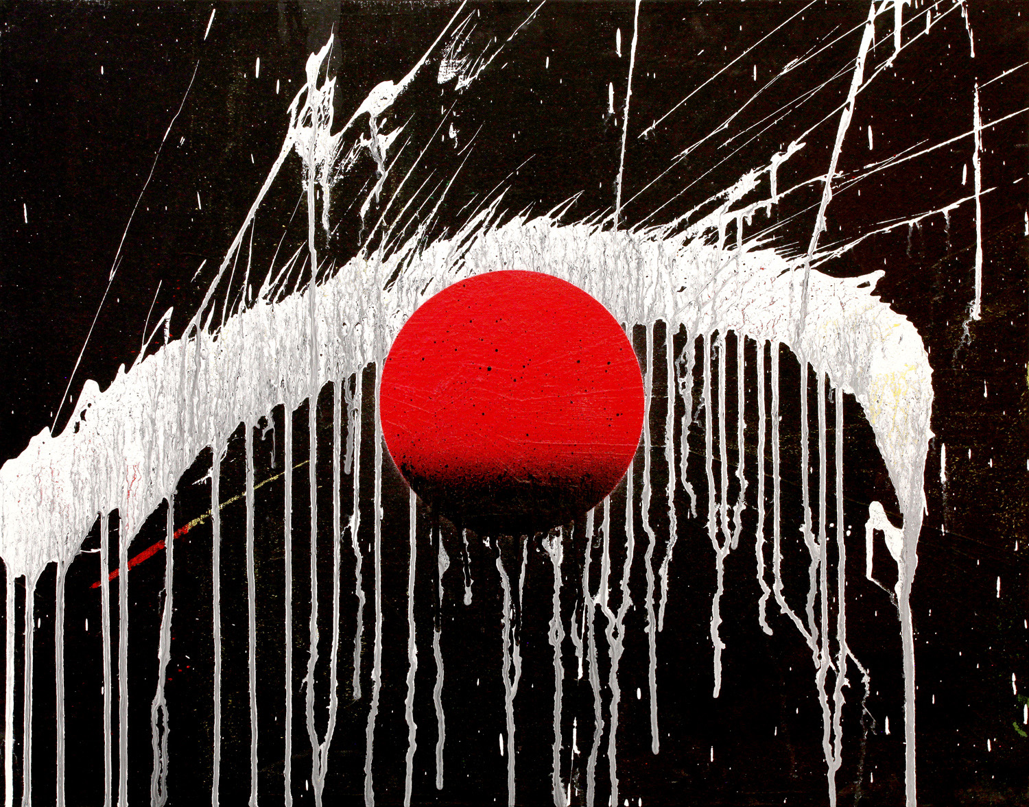 I.L.J.M.T.E. (I Love Japan More Than Ever), 2012 acrylic & spray paint on canvas 22.25 x 28.5 inch