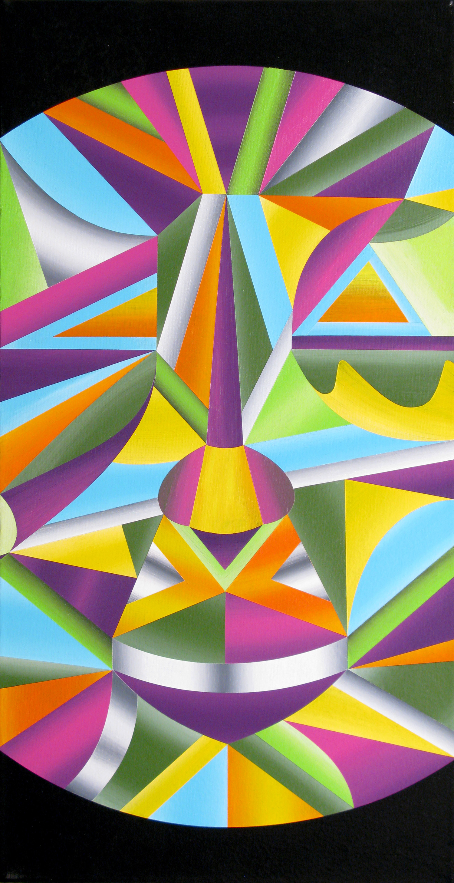 It Aint Easy (Being This Multi-Dimensional), 2010 acrylic on canvas 23.75 x 12.25 inch