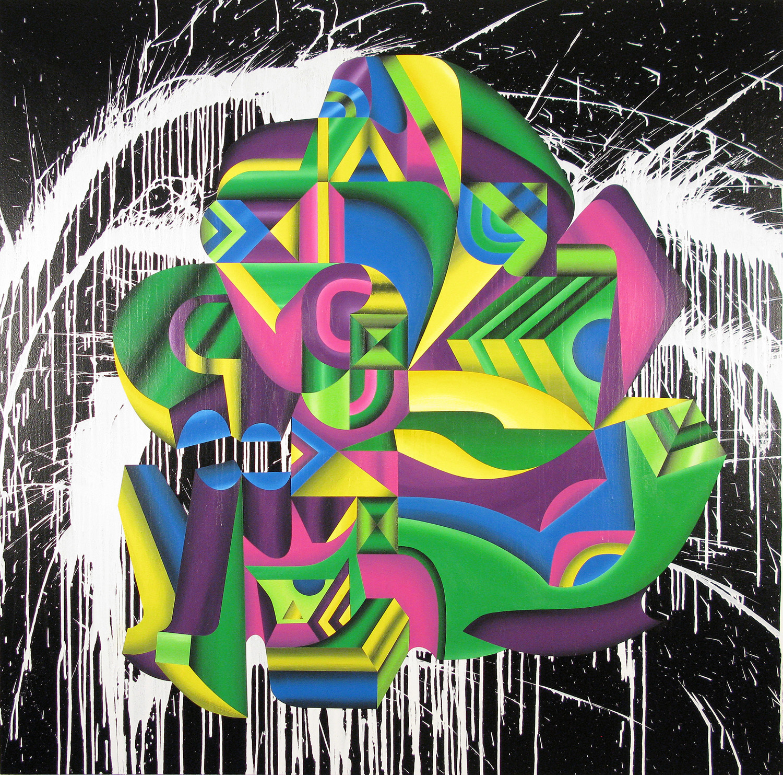 Praefectus Breukelen, 2009 acrylic on canvas 72 x 72 inch