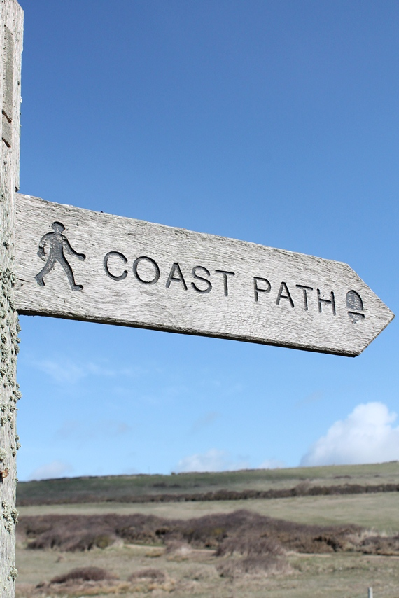 The coast path - My Mr's home for three days...
