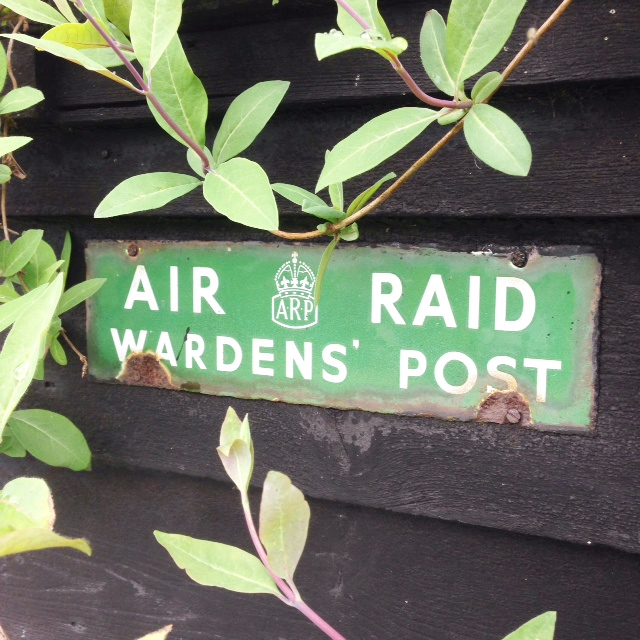 A sign in Turville - a genuine WWII leftover or something from the last tv show shot here?