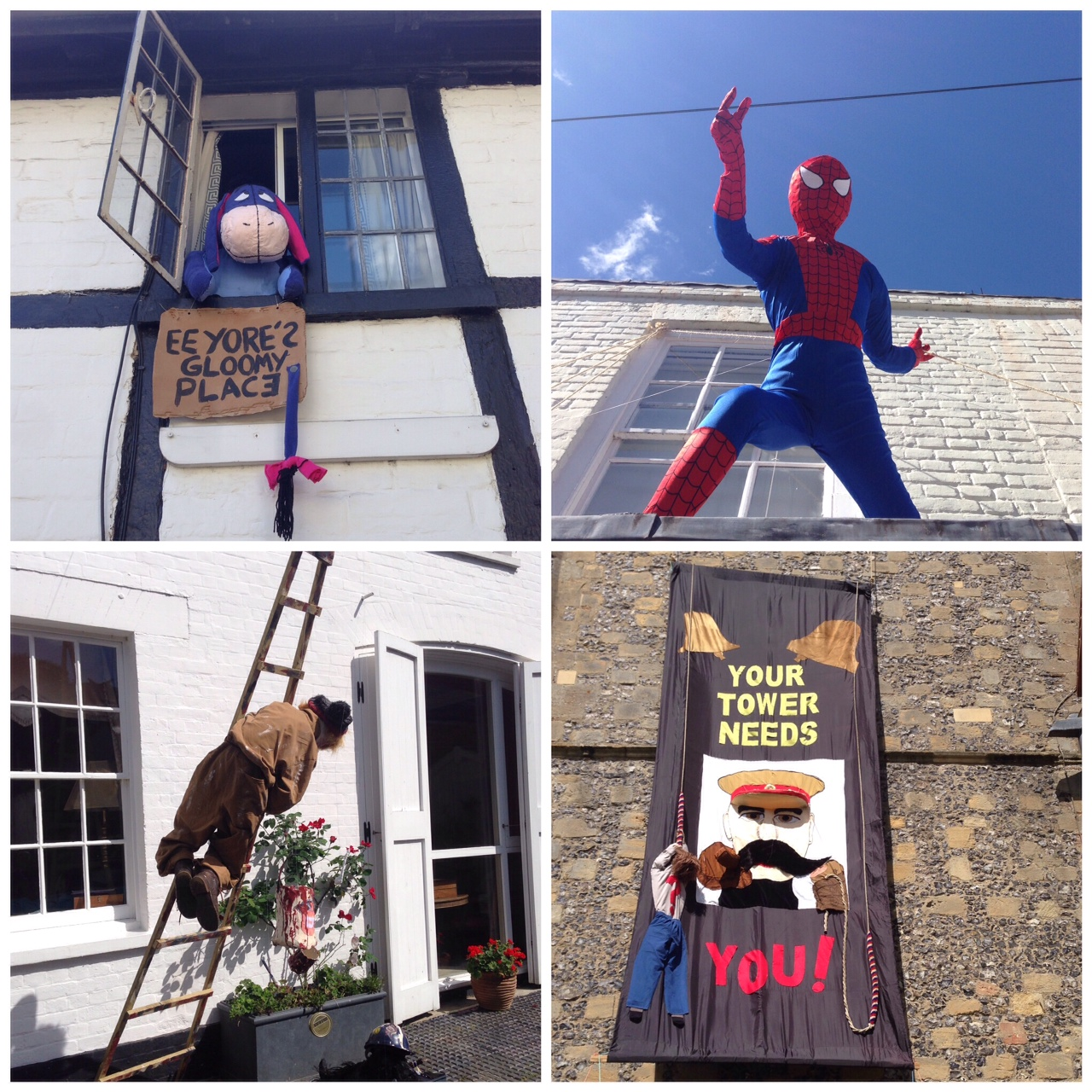 Eeyore, Spiderman, an accident prone decorator and Kitchener - warlord & bell-ringer...